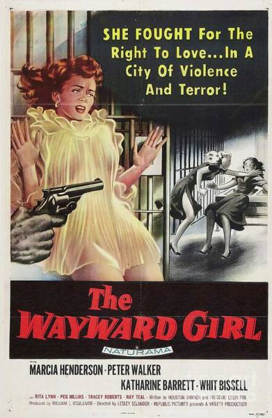 Wall Art - Painting - Classic Movie Poster - The Wayward Girl by Esoterica Art Agency