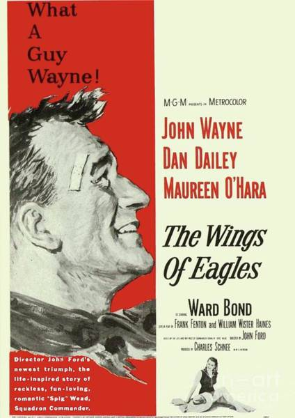 Wall Art - Painting - Classic Movie Poster - The Wings Of Eagles by Esoterica Art Agency