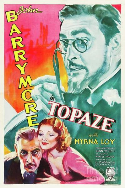Wall Art - Painting - Classic Movie Poster - Topaze by Esoterica Art Agency