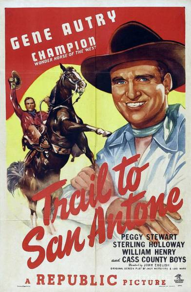 Wall Art - Painting - Classic Movie Poster - Trail To San Antone by Esoterica Art Agency