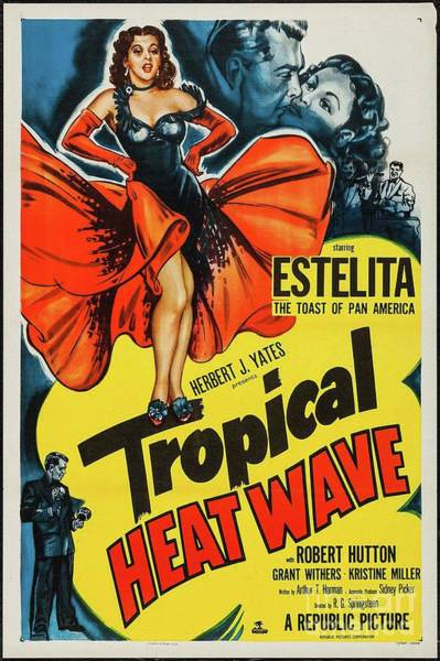 Wall Art - Painting - Classic Movie Poster - Tropical Heat Wave by Esoterica Art Agency