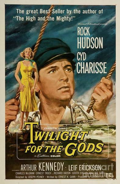 Wall Art - Painting - Classic Movie Poster - Twilight For The Gods by Esoterica Art Agency