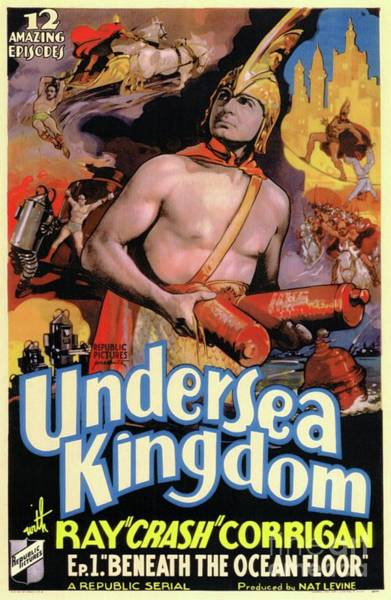 Wall Art - Painting - Classic Movie Poster - Undersea Kingdom by Esoterica Art Agency