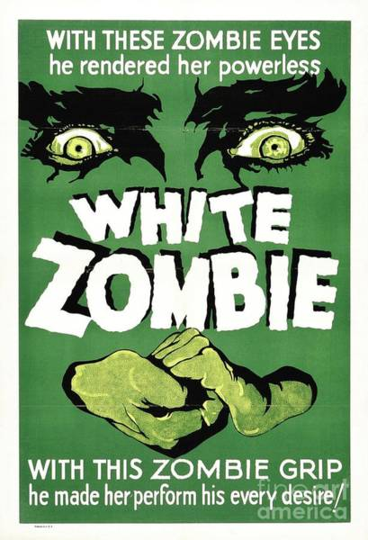 Wall Art - Painting - Classic Movie Poster - White Zombie by Esoterica Art Agency