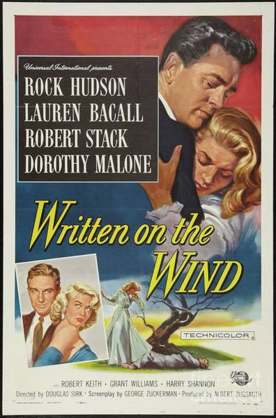 Wall Art - Painting - Classic Movie Poster - Written On The Wind by Esoterica Art Agency