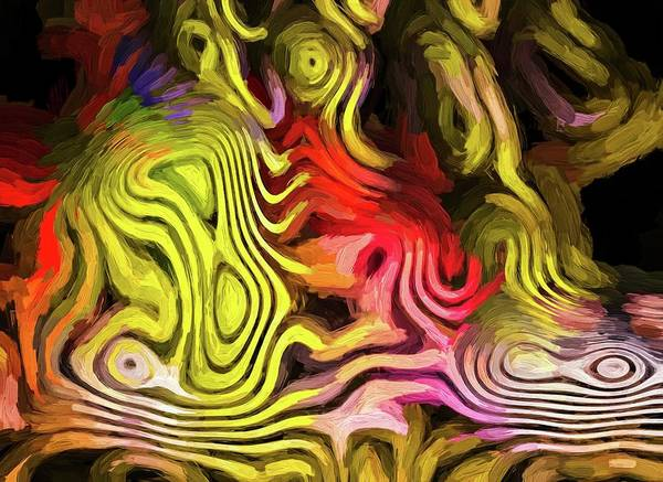 Digital Art - Classic Painted Chaos Gold by Don Northup