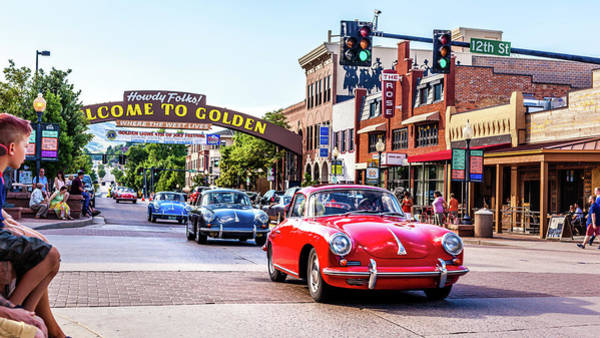 Wall Art - Photograph - Classic Porsches Through Downtown Golden, Colorado by Jeanette Fellows