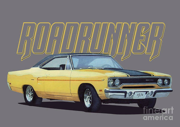 Front Digital Art - Classic Roadrunner by Paul Kuras