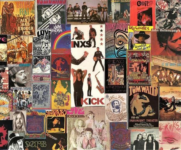 Yardbird Wall Art - Digital Art - Classic Rock Collage 3 Featuring Inxs by Doug Siegel