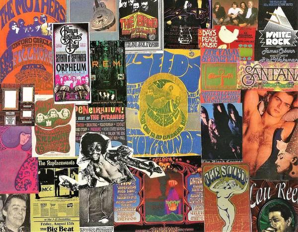 Black Crowes Wall Art - Digital Art - Classic Rock Collage 5 by Doug Siegel