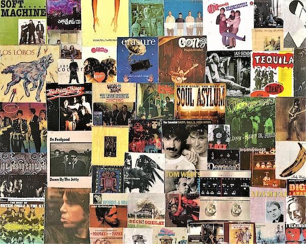 Black Crowes Wall Art - Digital Art - Classic Rock Lp Collage 3 by Doug Siegel