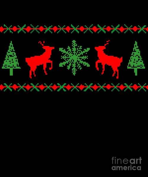 Digital Art - Classic Ugly Christmas Sweater by Flippin Sweet Gear