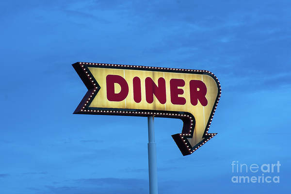 Photograph - Classic Vintage Diner Sign by James BO Insogna