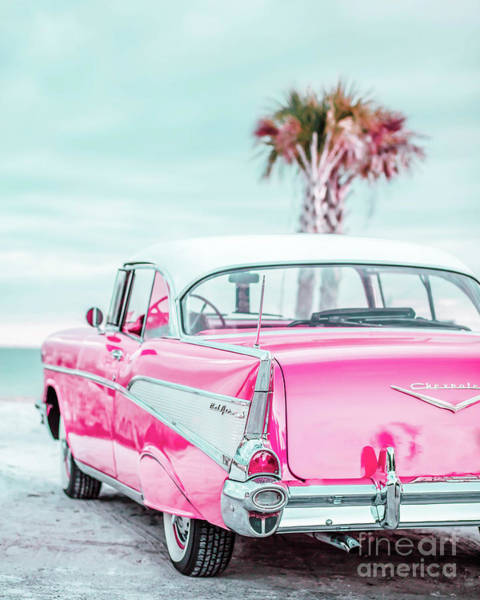 Photograph - Classic Vintage Pink Chevy Bel Air Jap5  by Edward Fielding