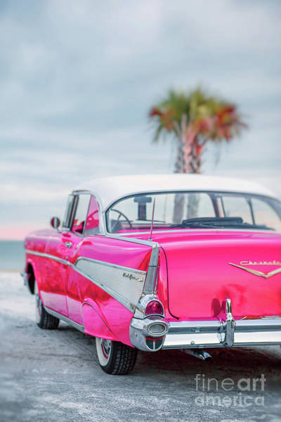 Photograph - Classic Vintage Pink Chevy Bel Air Request  by Edward Fielding