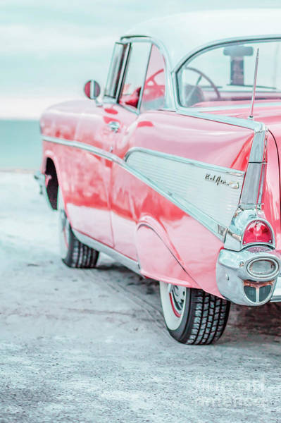 Wall Art - Photograph - Classic Vintage Red Chevy Bel Air Jap6.5  by Edward Fielding