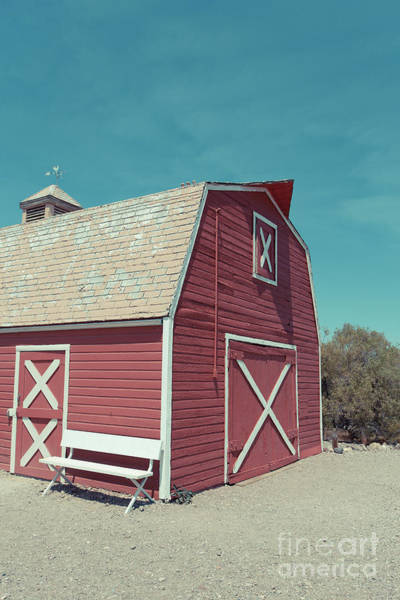 Wall Art - Photograph - Classic Western Red Barn by Edward Fielding