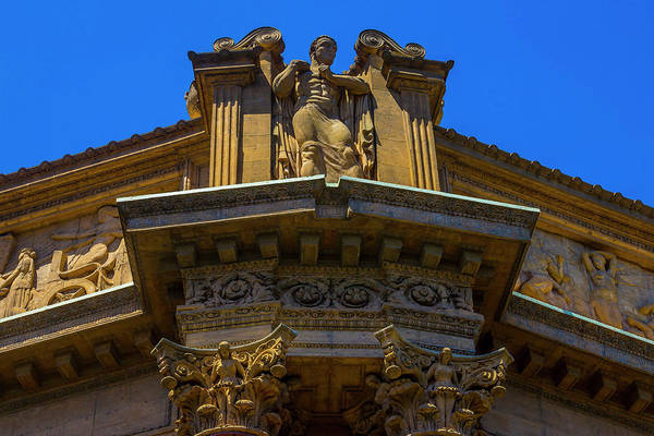 Wall Art - Photograph - Classical Detail On Palace Of Fine Art Building by Garry Gay