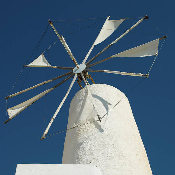 Wall Art - Photograph - Classical Greek Windmill by Mlenny