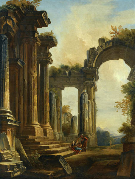 Collapse Painting - Classical Ruins by Giovanni Niccolo Servandoni