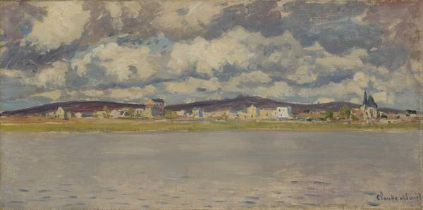 Wall Art - Painting - Claude Monet 1840 - 1926 View Of Argenteuil by Celestial Images