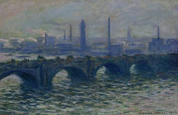 Wall Art - Painting - Claude Monet - Waterloo Bridge  1902  by Celestial Images