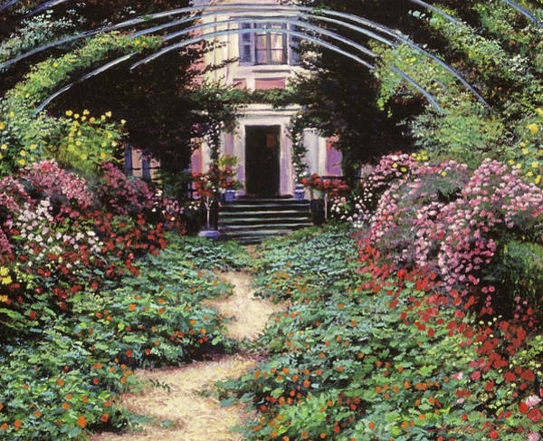 Giverny Painting - Claude Monet's Garden Path by David Lloyd Glover