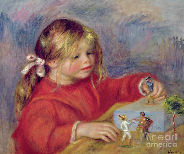 Wall Art - Painting - Claude Renoir At Play by Pierre Auguste Renoir