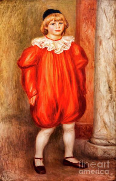 Painting - Claude Renoir In A Clown Costume by Auguste Renoir