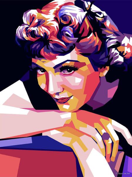 Digital Art - Claudette Colbert by Stars on Art