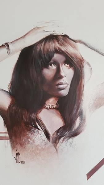 Coolidge Painting - Claudia Lennear.brown Sugar.lady Grinning Soul by Vali Irina Ciobanu