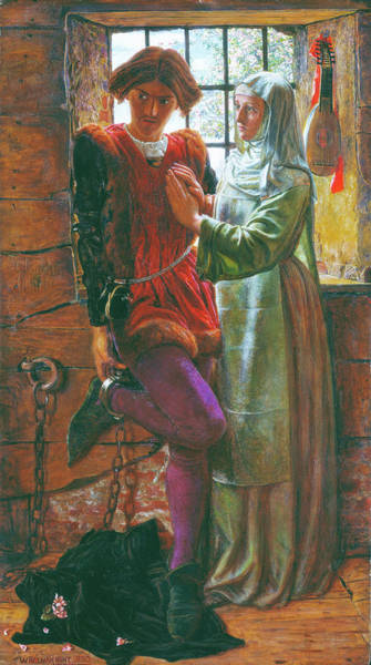Wall Art - Painting - Claudio And Isabella - Digital Remastered Edition by William Holman Hunt