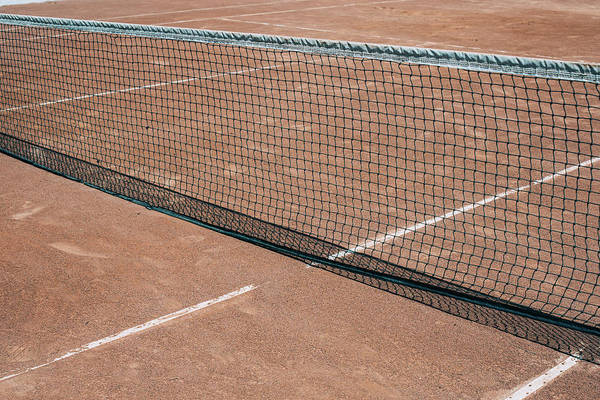 Wall Art - Photograph - Clay Court Tennis Net by Pati Photography