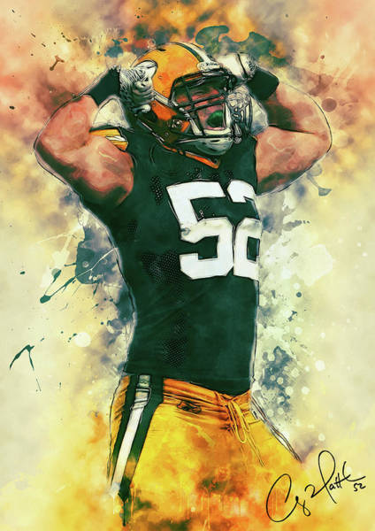 Wall Art - Painting - Clay Matthews by Zapista Zapista