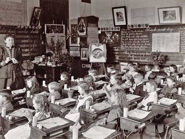 Wall Art - Painting - Clay Modelling. Yeoman-street Primary School, Dearborn District, 1892 by Celestial Images