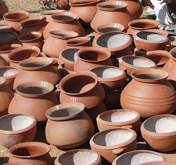 Clay Pots  For Sale In Chatikona  Art Print