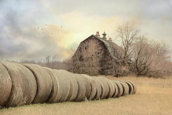 Fall Scenery Mixed Media - Clayton Farmland 2 by Lori Deiter