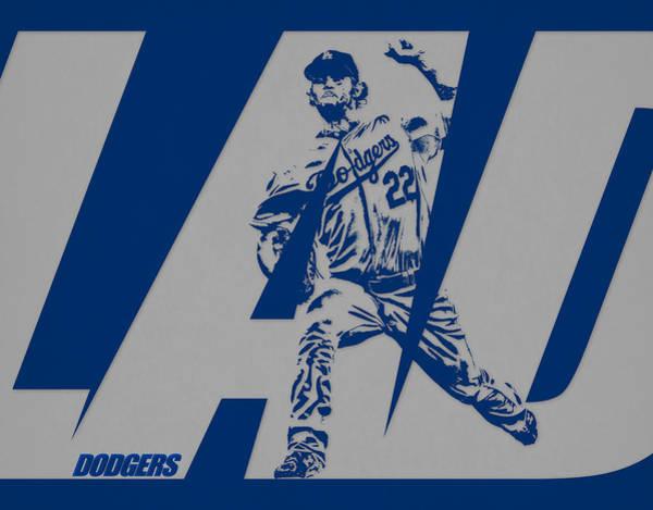 Wall Art - Mixed Media - Clayton Kershaw Los Angeles Dodgers City Art 1 by Joe Hamilton