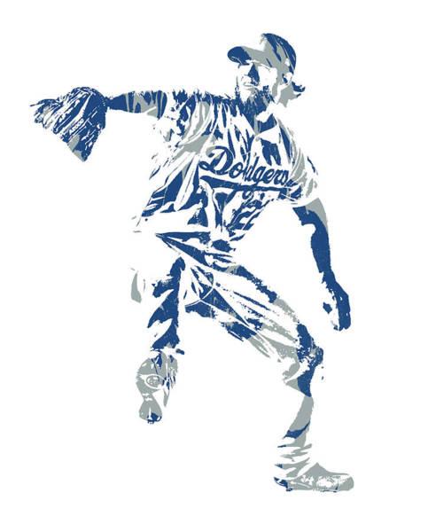 Wall Art - Mixed Media - Clayton Kershaw Los Angeles Dodgers Pixel Art  100 by Joe Hamilton