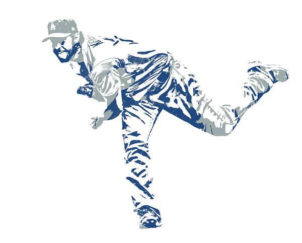 Clayton Kershaw Los Angeles Dodgers Pixel Art 31 Art Print