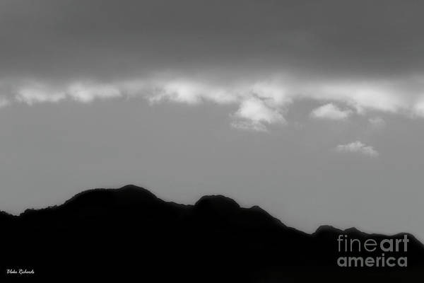 Photograph - Clear China Skys Black And White by Blake Richards