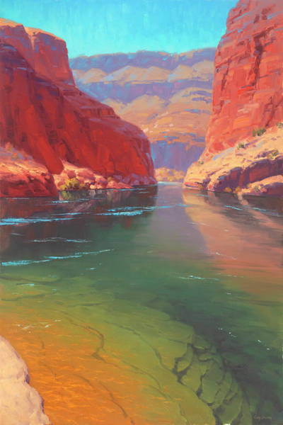 Canyon Wall Art - Painting - Clear Currents by Cody DeLong