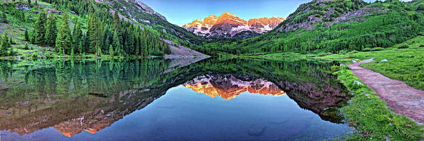Photograph - Clear Day At Maroon Bells  by OLena Art Brand