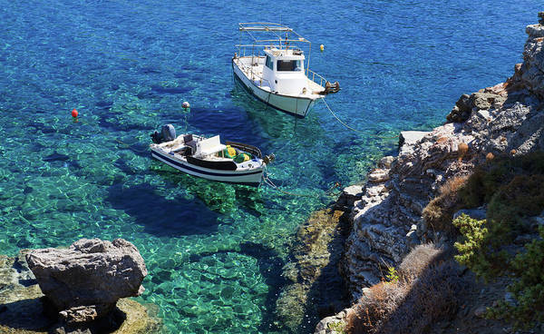 Collin Photograph - Clear Water Creek With Two Boats In by © Frédéric Collin