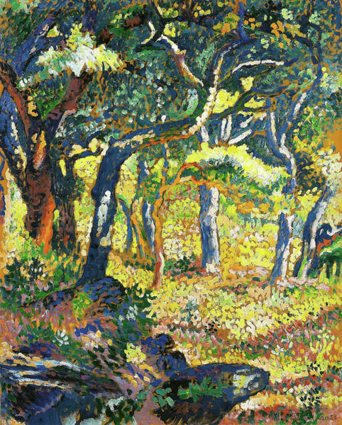 Wall Art - Painting - Clearing In Provence - Digital Remastered Edition by Henri Edmond Cross