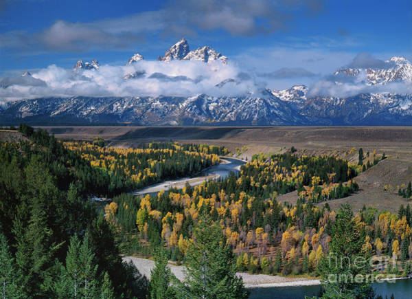 Photograph - Clearing Storm Snake River Overlook Grand Tetons National Park Wyoming by Dave Welling