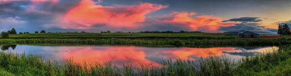 Photograph - Clearing Storms Over Pond Panorama by Dale Kauzlaric