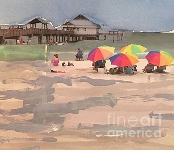 Wall Art - Painting - Clearwater Beach by Catherine Bennett