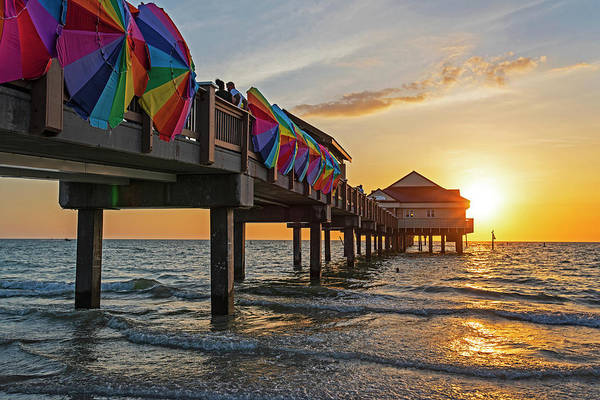 Photograph - Clearwater Florida Sunset At The Pier Fl by Toby McGuire