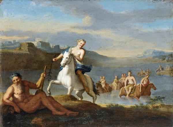 Painting - Clelia Crossing The Tiber by Gerard Hoet
